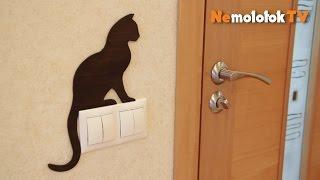 26. Силуэты на дверь и выключатели с PlayMat. Делаем своими руками!