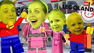 Приключения в Леголенде Невероятный детский парк лего фигурками каруселями и горками