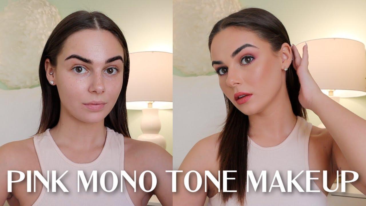 EJB TUTORIAL: Pink Mono Tone w/ Black Liner Makeup || EJB