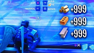 New feature gives UNLIMITED BUILDING MATERIALS! (Fortnite INFINITE MATS BUILDING PRACTICE!)