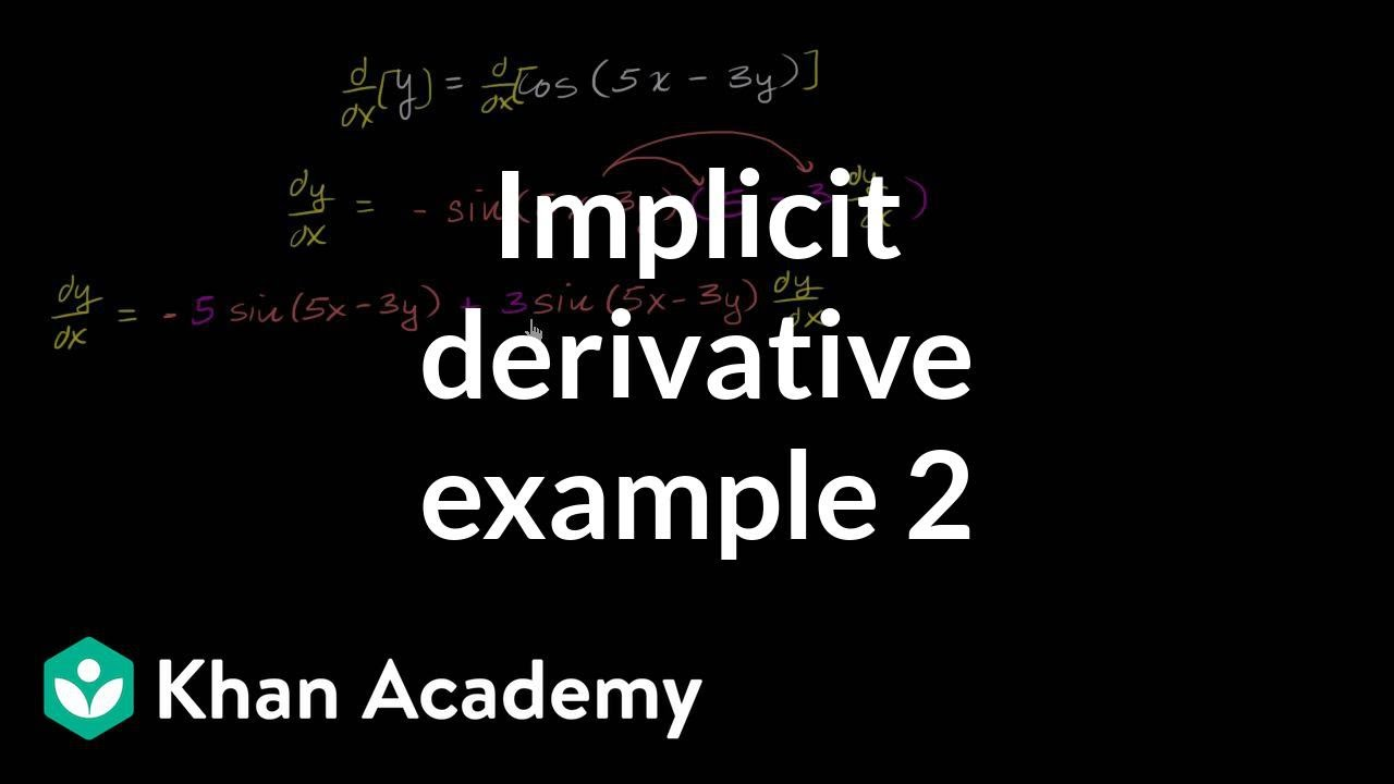 Implicit differentiation (advanced example) (video) | Khan