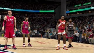 NBA 2K13 - All-Star Dunk Contest Feat. M. Jordan, LeBron James, Blake Griffin, & Dominique Wilkins