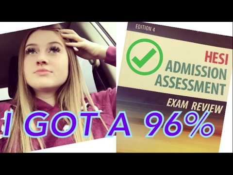 HESI A2 Entrance Exam How I Got A 96 YouTube