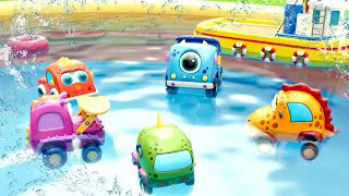 Машинки в бассейне. Новые развивающие мультики для детей про машинки