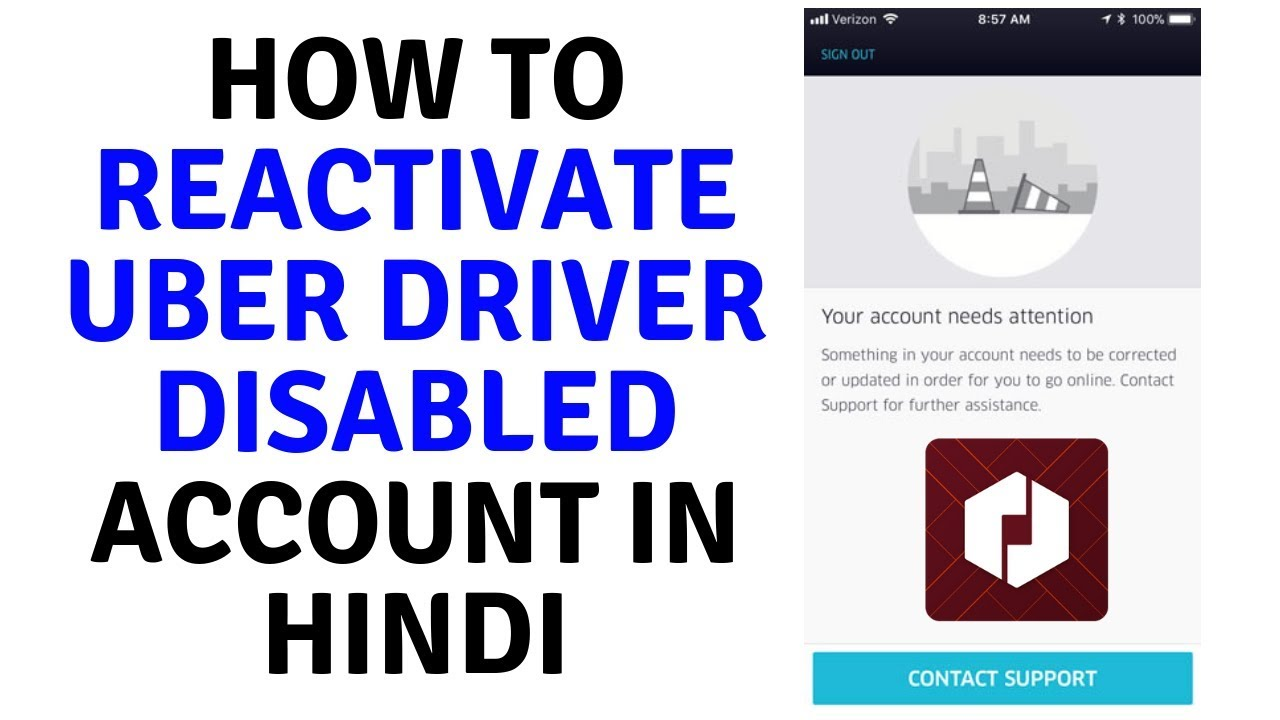 How can i reactivate my uber driver account
