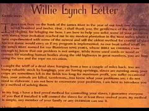 The Willie Lynch Letter Complete   YouTube