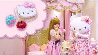 【2019年1月中旬発売】「リカちゃんハローキティ スイーツカフェ」。リカちゃんがとってもかわいいキティちゃんのカフェをオープンするよ♡...