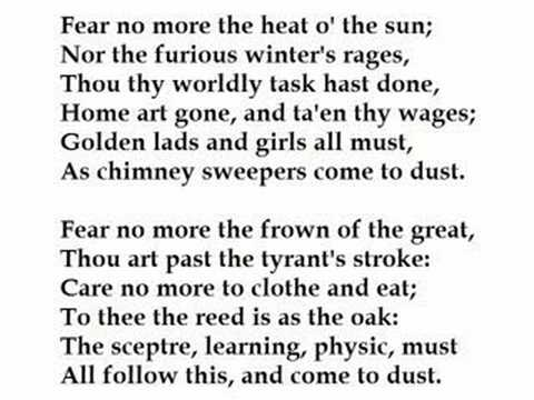 Fear No More by William Shakespeare (read by Tom O'Bedlam)