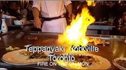 Lunch at Yamato Teppanyaki Restaurant, Yorkville Toronto