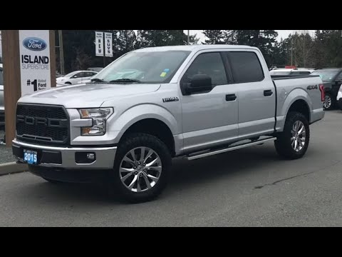 2015 Ford F-150 XLT W/ Level Kit, K & N Exhaust, Spray In Liner Review  Island Ford