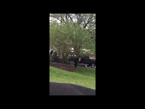 Raw video: Police shootout at at Eakin Road and Harrisburg Pike
