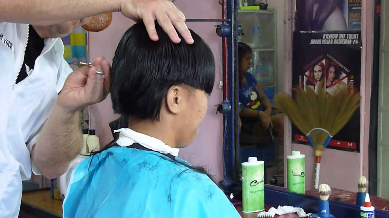 Girl short barbershop haircut