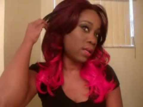 Bright Red Color Wigs Hair On Dark Skin Youtube