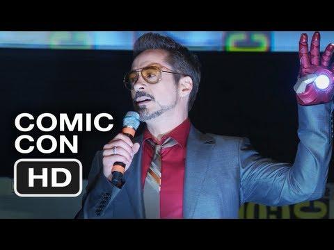 Robert Downey Jr.s Dancing Comic-Con Intro - Iron Man 3 HD Movie