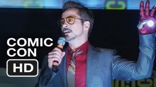 Robert Downey Jr.'s Dancing Comic-Con Intro - Iron Man 3 HD Movie