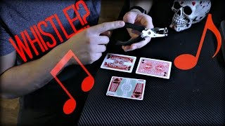 MAKE PLAYING CARDS WHISTLE!? (Tutorial)