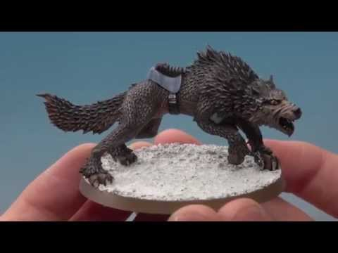 Space Wolves - Painting a Thunderwolf.