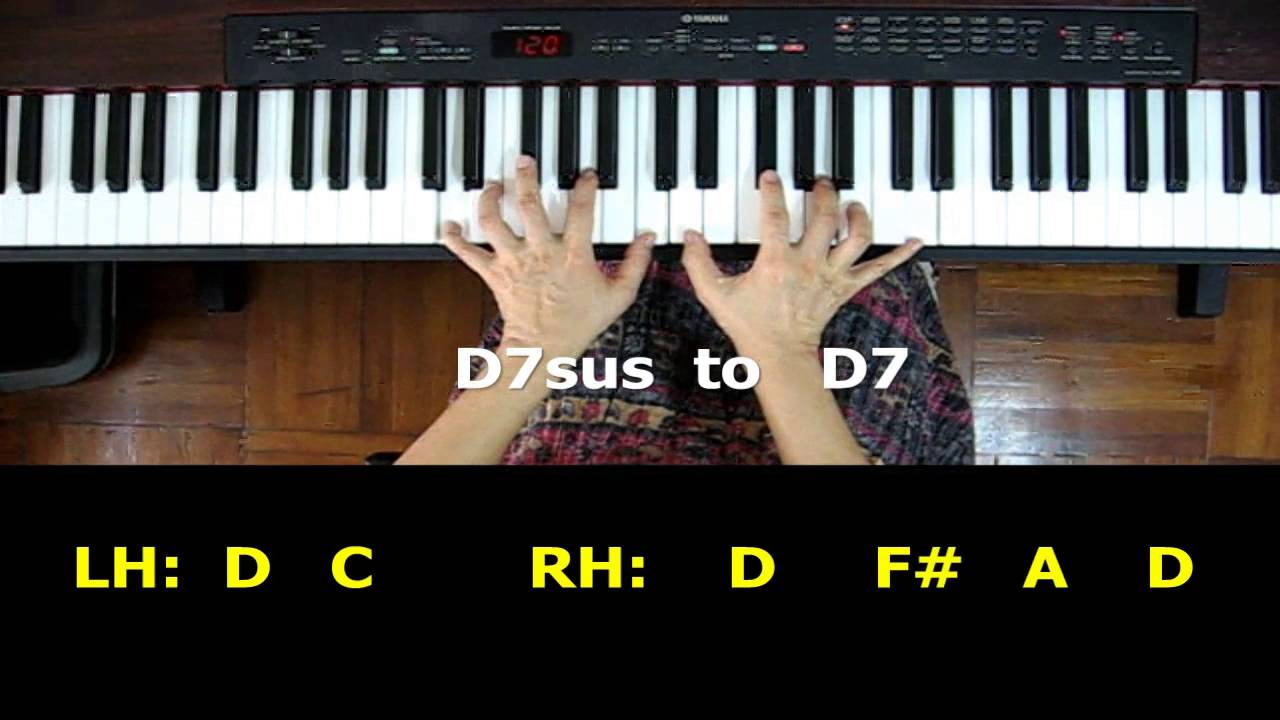 Piano chords d7 sus chord moving to d7 sounds youtube hexwebz Images