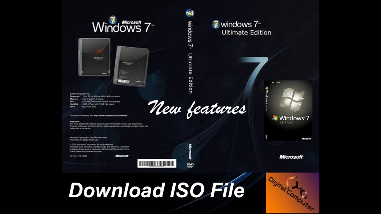 Windows 7 iso full version (32bit / 64bit) download.