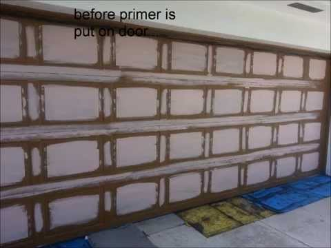 FAUX WOOD HOW TO -CALL ME- GARAGE ENTRY DOOR CABINETS PAINT REFACE KITCHEN - YouTube & FAUX WOOD HOW TO -CALL ME- GARAGE ENTRY DOOR CABINETS PAINT REFACE ...