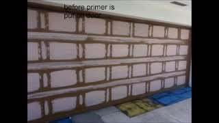 Faux Wood How To -call Me- Garage Entry Door Cabinets Paint Reface Kitchen
