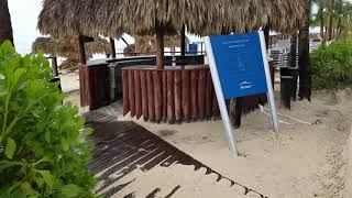 Hard Rock Punta Cana beach damage from hurricane Maria