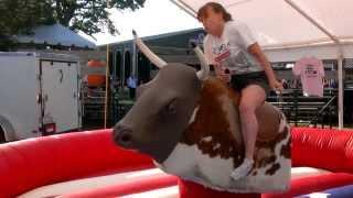 My Wife riding a Mechanical Bull