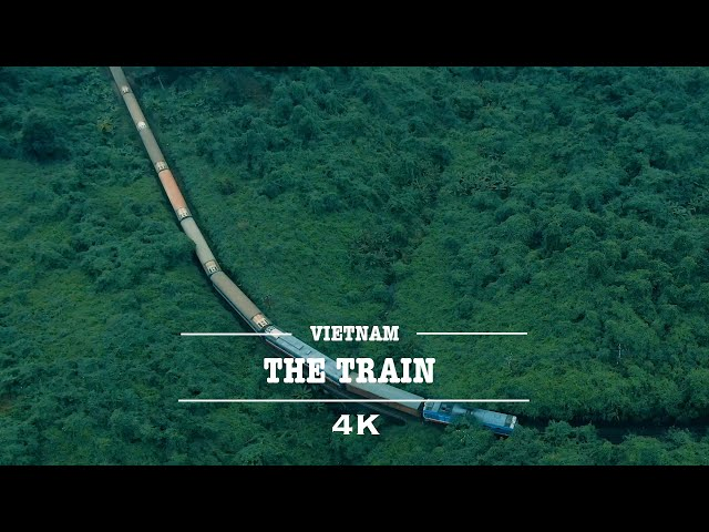 The Beauty Of Vietnam Train By Drone (4K)