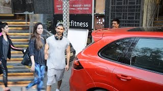 Shahid Kapoor And Mira Rajput Spotted Together At  I Think Fitness Gym Juhu
