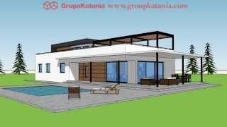 Modelo Calpe. Chalet De Diseño Moderno Por Grupo Katania Para Construir En Calpe