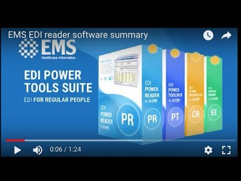 835 Reader and EDI Converter to Excel Revenue Cycle Software EMS