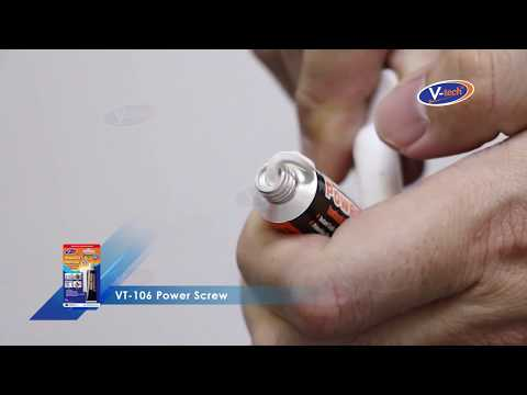 How to use V-tech Power Screw (VT-106), a very powerful adhesive!