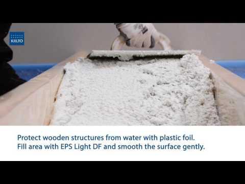 Kiilto EPS Light kerge valumass aluspõrandatele / Light concrete for casting subfloors