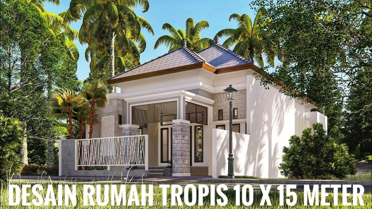 Rumah dengan Arsitektur Tropis