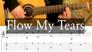 FLOW MY TEARS (Lachrimae Pavane) - John Downland - Full Tutorial with Tab - Fingerstyle Guitar