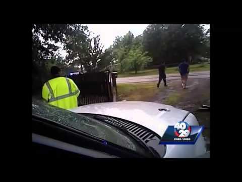 RAW VIDEO: Woman escapes handcuffs, steals cop car