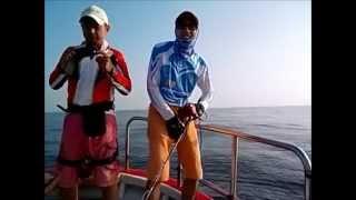 紅魽 紅甘    漁豐精品釣具  小邱師帶班   卡通人物變態小隊  鐵板路亞2014年9月