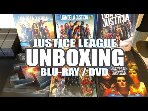 JUSTICE LEAGUE - LIGA DE LA JUSTICIA - Unboxing Ediciones en BLU-RAY y DVD
