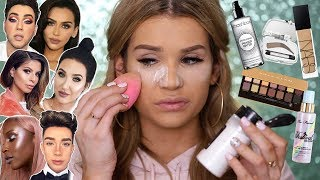 Full Face TESTING BEAUTY GURUS Makeup FAVORITES! WORTH it or TOSS it?!