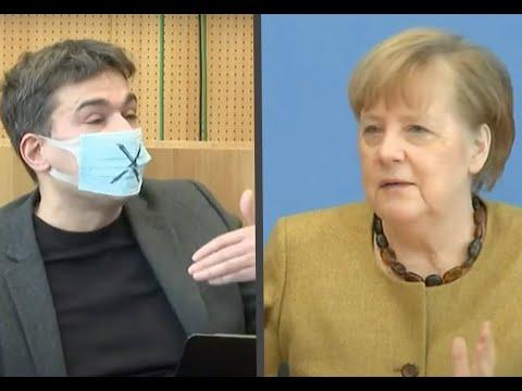 Merkel antwortet auf Fragen zu Lockdown