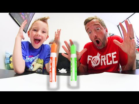 Father Son HARDEST TRICK SHOT EVER! / Marker Flip Race!