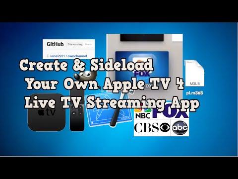 Build & Sideload Your Own Apple TV 4 Live TV Streaming App