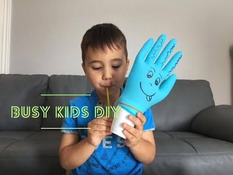 Glove Monster DIY - Busy Kids DIY