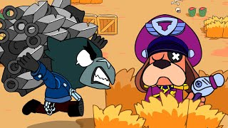Brawl Stars Animation #75 - COLONEL RUFFS vs CROW vs DARK LORD SPIKE