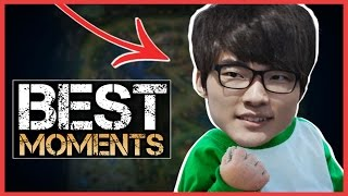 LoL Best Stream Moments #4 - BABY FAKER OUTPLAY
