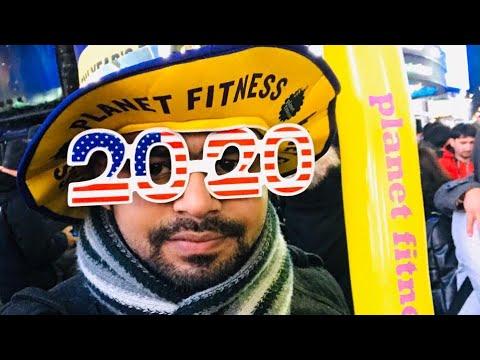 Celebrating Happy New Year 2020 Ball Drop At Times Square,NY