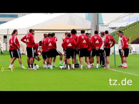 FC Bayern in Doha: Highlights vom zweiten Training (06.01.2014)
