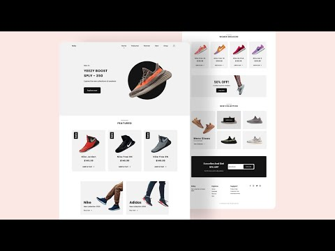 Responsive Ecommerce Website Using HTML CSS JavaScript | Mobile First