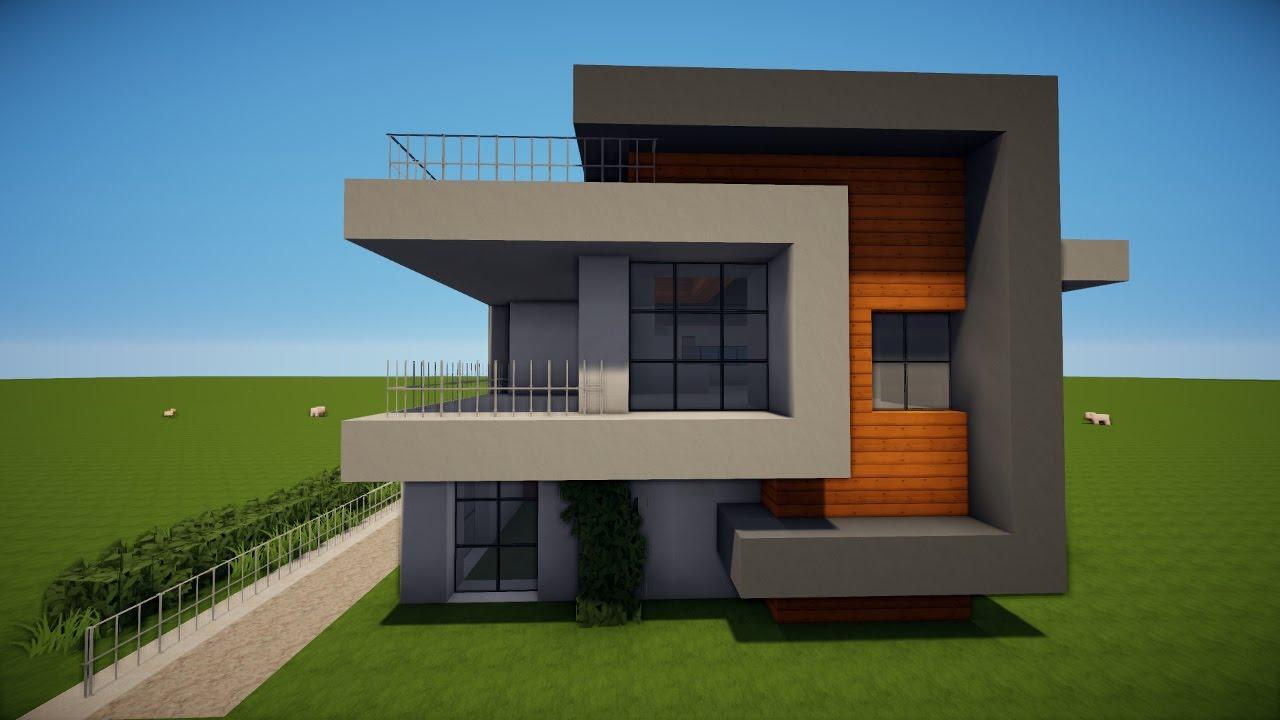 Minecraft Modernes Haus Bauen Tutorial [haus 45]  Youtube
