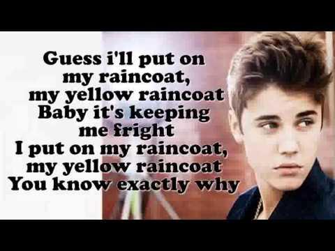 Justin Bieber- Yellow Raincoat Acoustic Lyrics HD - YouTube